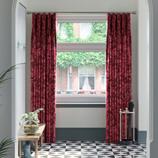 Crushed Velvet, Ruby - Made to Measure Curtains