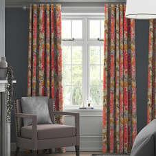 Hollihocks, Candy - Made to Measure Curtains