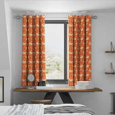 Narvik, Burnt Orange - Made to Measure Curtains