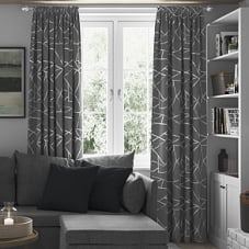 Smash, Grey - Made to Measure Curtains