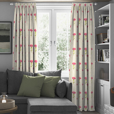 Thistle, Rosso - Made to Measure Curtains