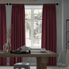 Windsor, Raspberry - Made to Measure Curtains