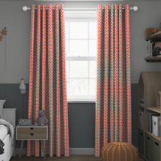 Zap, Coral - Made to Measure Curtains