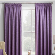 Adelaide (Thermal Dimout), Grape - Ready Made Curtains