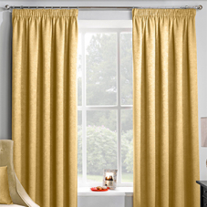 Adelaide (Thermal Dimout), Ochre - Ready Made Curtains
