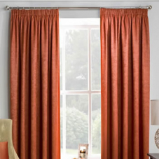 Adelaide (Thermal Dimout), Orange - Ready Made Curtains
