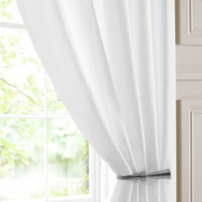 Batiste Voile, White - Ready Made Curtain