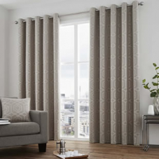 Camberwell Eyelet, Stone - Ready Made Curtains