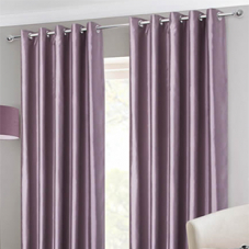 Faux Silk Eyelet, Heather - Ready Made Curtains