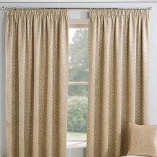 Gemini (Dimout), Natural - Ready Made Curtains