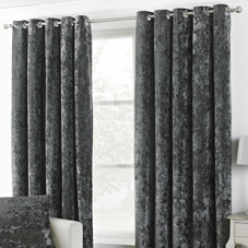 Glamour Eyelet (Dimout), Pewter - Ready Made Curtains