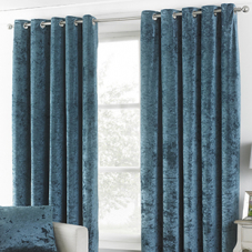 Glamour Eyelet (Dimout), Teal - Ready Made Curtains