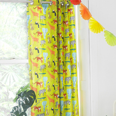 Jungle Wildlife - Ready Made Curtains