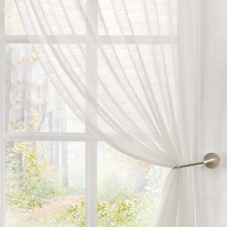 Lucerne Voile, White - Ready Made Curtain
