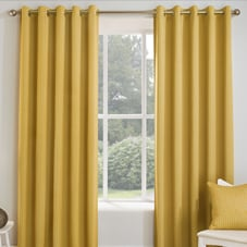 Miami Eyelet (Thermal Dimout), Ochre - Ready Made Curtains