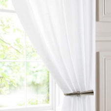 Mist Voile, White - Ready Made Curtain