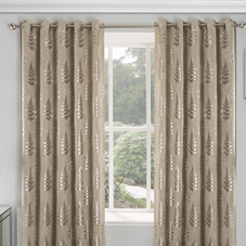 Ritz Eyelet (Thermal Dimout), Natural - Ready Made Curtains