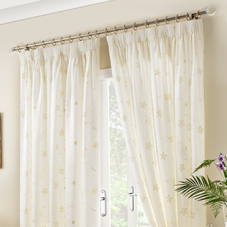 Seville, Ivory - Ready Made Curtains