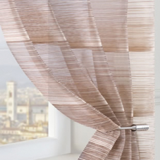 Strata Voile, Brown - Ready Made Curtain