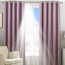 Twilight Eyelet (Thermal Blackout), Mauve - Ready Made Curtains