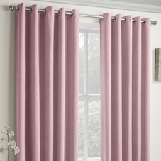 Vogue Eyelet (Thermal Dimout), Blush - Ready Made Curtains