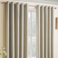 Vogue Eyelet (Thermal Dimout), Cream - Ready Made Curtains