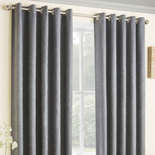 Vogue Eyelet (Thermal Dimout), Grey - Ready Made Curtains