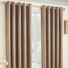 Vogue Eyelet (Thermal Dimout), Latte - Ready Made Curtains
