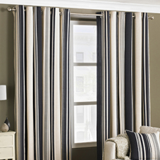 West End Eyelet (Dimout), Black - Ready Made Curtains