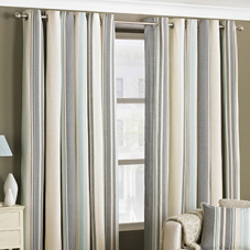 West End Eyelet (Dimout), Duck Egg - Ready Made Curtains