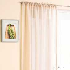 Battersea Voile, Cream - Ready Made Curtain