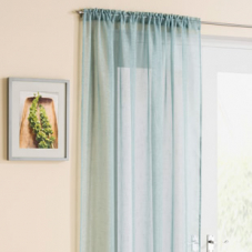 Battersea Voile, Duck Egg - Ready Made Curtain