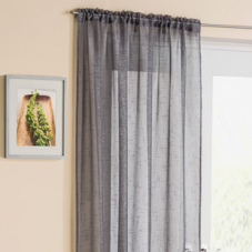 Battersea Voile, Grey - Ready Made Curtain