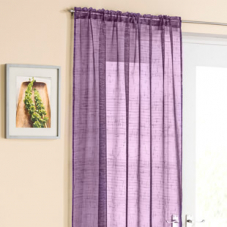 Battersea Voile, Purple - Ready Made Curtain