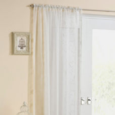 Birdcage Voile, Cream - Ready Made Curtain
