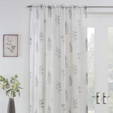 Bracken Voile, Grey - Ready Made Curtain