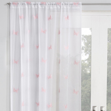 Butterfly Voile, Blush - Ready Made Curtain