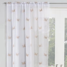 Butterfly Voile, Natural - Ready Made Curtain