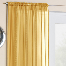 Crystal Voile, Gold - Ready Made Curtain