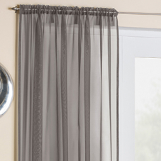 Crystal Voile, Grey - Ready Made Curtain