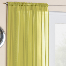 Crystal Voile, Lime - Ready Made Curtain