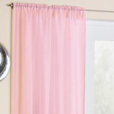 Crystal Voile, Pink - Ready Made Curtain