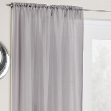 Crystal Voile, Silver - Ready Made Curtain