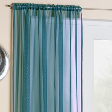 Crystal Voile, Teal - Ready Made Curtain