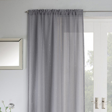 Jewel Voile, Grey - Ready Made Curtain