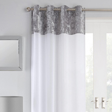 Liberty Eyelet Voile, Silver - Ready Made Curtain