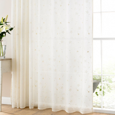 Seville Voile, Ivory - Ready Made Curtain
