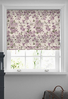 Amelie, Mulberry - Roman Blind
