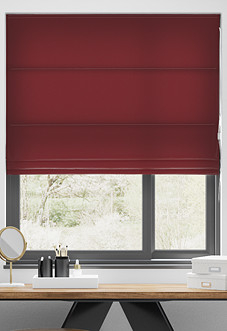 Faux Suede, Red - Roman Blind