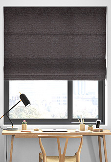Maurice, Charcoal - Roman Blind